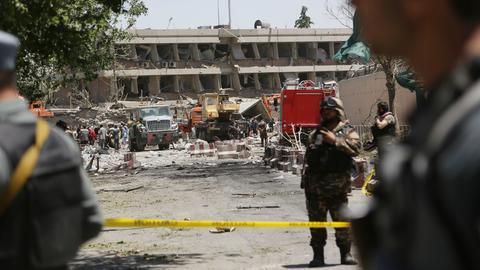 Der Anschlagsort in Kabul