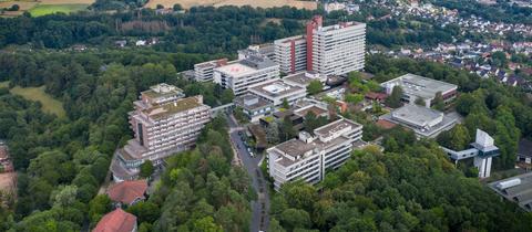Der Standort des Klinikums Hersfeld-Rotenburg in Rotenburg an der Fulda