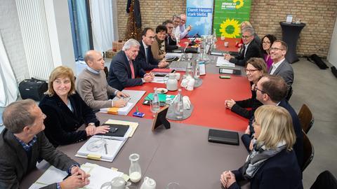 CDU und Grüne  führten am Dienstag ihre Koalitionsverhandlungen fort.