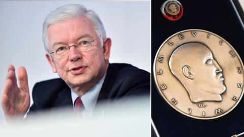 Roland Koch und die Wilhelm-Leuschner-Medaille.