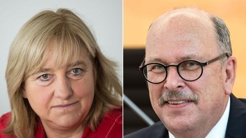 Bildkombo: links Eva Kühne-Hörmann, rechts Stefan Grüttner