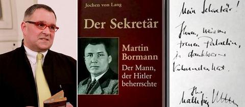 Steinaus Bürgermeister Malte Jörg Uffeln und seine Buchwidmung
