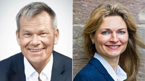 Portraits von Thomas Spies und Nadine Bernshausen.