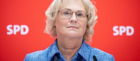 Christine Lambrecht am Mittwoch in Berlin bei ihrer Vorstellung.