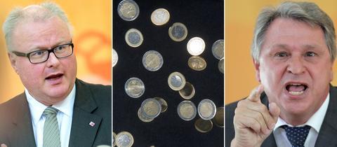 Finanzminister Thomas Schäfer (CDU) und SPD-Finanzexperte Norbert Schmitt.