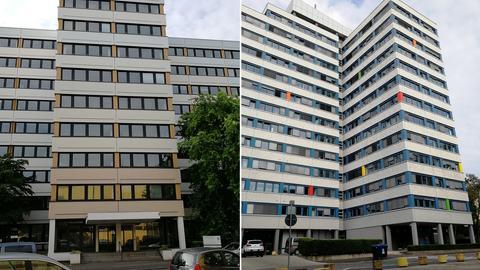Altes Sozialministerium (links) und die Wiesbadener Finanzämter I und II: zwei Landesimmobilien, die 2005 verkauft wurden