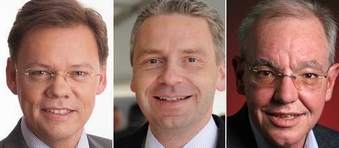Porträtbilder der Kandidaten.