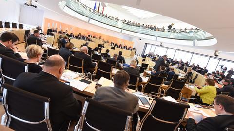 Ein Blick in den hessischen Landtag