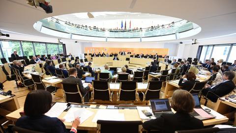 Der Plenarsaal des Landtags