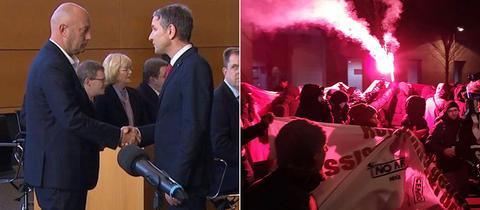 Höcke (AfD) gratuliert Kemmrich (FDP)