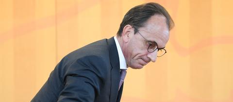 Finanzminister Michael Boddenberg (CDU) im Landtag