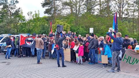 Eine AfD-Aufnahme der Demonstration des Anstoßes