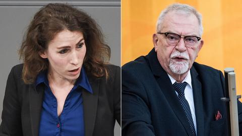 Die AfD-Politiker Mariana Harder-Kühnel und Karl Hermann Bolldorf