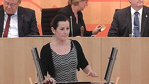 Janine Wissler (Linke) Landtag Windkraft
