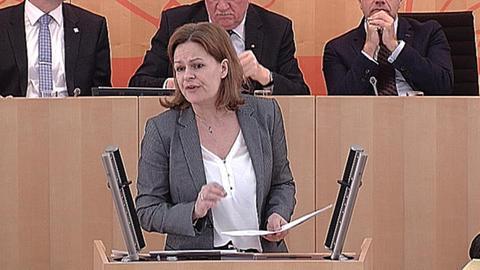 landtag-aktuelle-stunde-rechte-politik- Nancy Faeser (SPD)