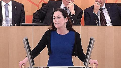 landtag-aktuelle-stunde-rechte-politik- Janine Wissler (Linke)