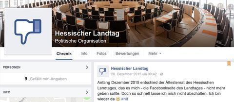 Inoffizielle Facebook-Seite Hessischer Landtag