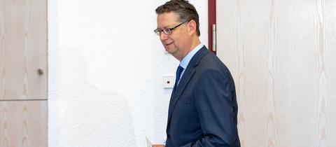 """""""Ein bisschen Wehmut, keine Bitterkeit"""": SPD-Chef Thorsten Schäfer-Gümbel verlässt den Landtag."""