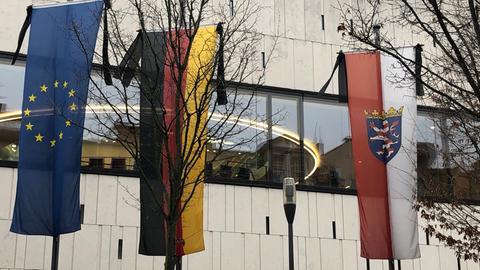 Trauerbeflaggung Landtag