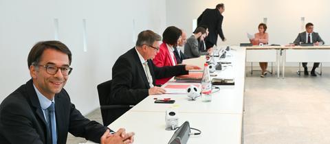 Der CDU-Politiker Christian Heinz vor seiner Wahl zum Vorsitzenden des Lübcke-Ausschusses