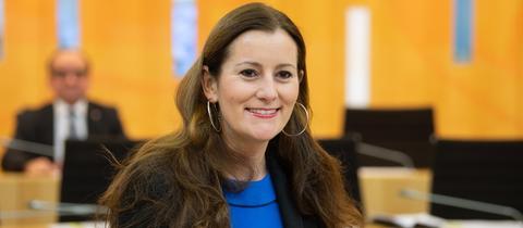 Janine Wissler im Landtag