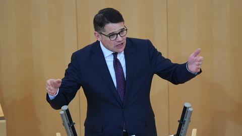 Neu gewählter Landtagspräsident: Boris Rhein (CDU) am Freitag im Landtag