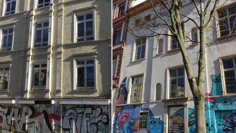 Leerstehende Häuser in Frankfurt