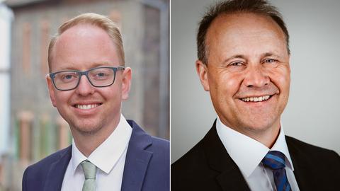 Neuer Bürgermeister von Licht ist Julien Neubert (links). In Lichtenfels wurde Henning Scheele neuer Rathauschef.