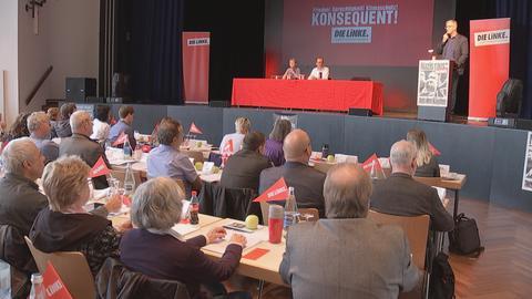 Parteitag mit Dietmar Bartsch am Rednerpult