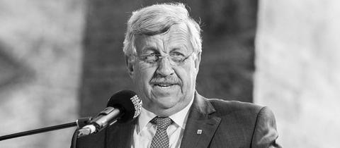 Walter Lübcke während einer Rede.