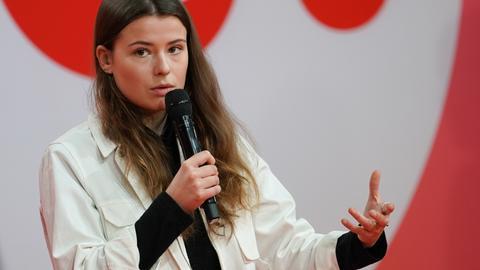 Luisa Neubauer bei einer Online-Diskussion