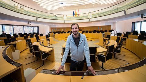 Lukas Schauder ist der jüngste Abgeordnete im hessischen Landtag.
