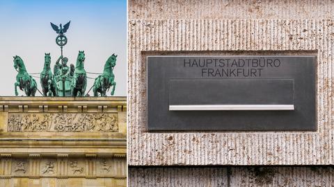 Die Quadriga in Berlin und wie der Frankfurter Briefkasten aussehen könnte