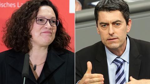 SPD-Chefin Andrea Nahles und der Bundestagsabgeordnete Sascha Raabe