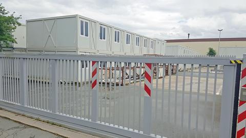 Leerstehende Flüchtlingscontainer in Wetzlar