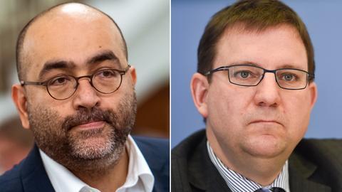 Omid Nouripour von den Grünen, Hessens FDP-Vorsitzender Stefan Ruppert