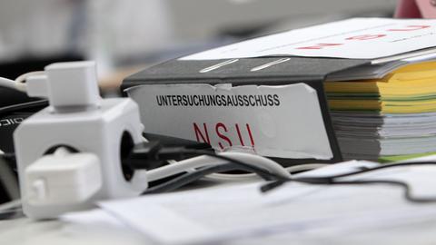 Aktenordner mit der Aufschrift Untersuchungsausschuss NSU