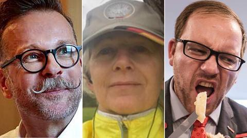 Die drei OB-Kandidaten Schloberg, Weyland und Wehnemann