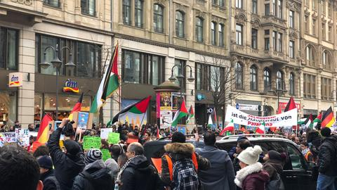 Demonstration gegen Jerusalem-Anerkennung Trumps in Frankfurt