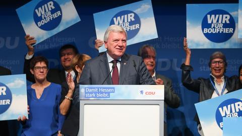 Volker Bouffier auf dem Landesparteitag in Offenbach
