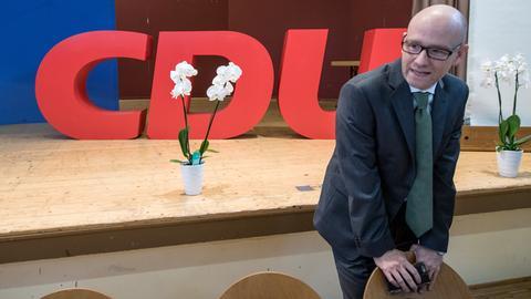 CDU-Generalsekretär Peter Tauber (r.) beim CDU-Kreisparteitag