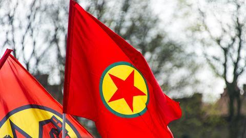 Fahne der kurdischen Arbeiterpartei PKK