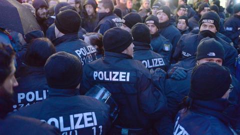 Polizei-Aufgebot bei Demonstration