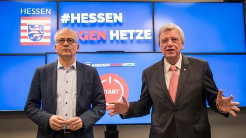 Hessen gegen Hetze Al-Wazir Bouffier