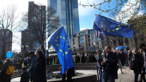 Pulse-of-Europe-Kundgebung in Frankfurt