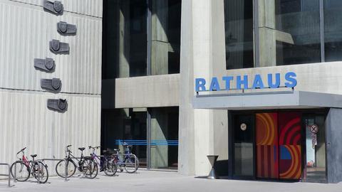 Rathaus Offenbach, Eingang