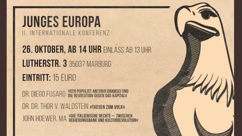 """Ankünding der """"Junges Europa"""" Konferenz in Marburg"""