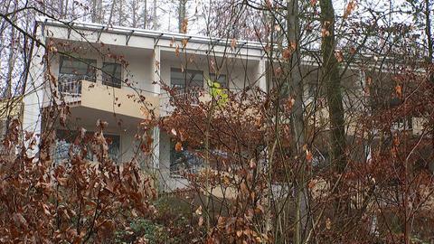 Blick in Gieselwerder auf das Hotel von Meinolf Schönborn