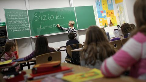 Schüler in einer Schule in Wiesbaden