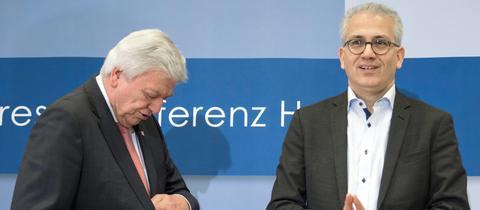 Tarek Al Wazir (Grüne) und Volker Bouffier (CDU)